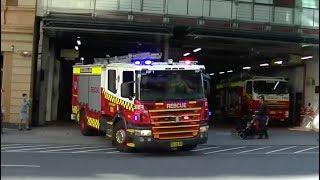 FRNSW - 001 City of Sydney pumpers responding - 17/05/2014