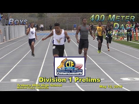 2018 TF - CIF-ss Prelims (D1) - 400 (Boys, 6 Heats)
