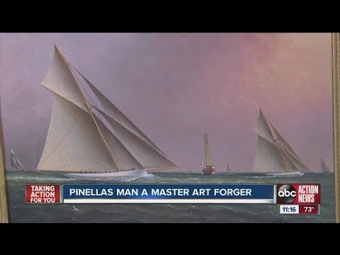 Local man's paintings scam the art world
