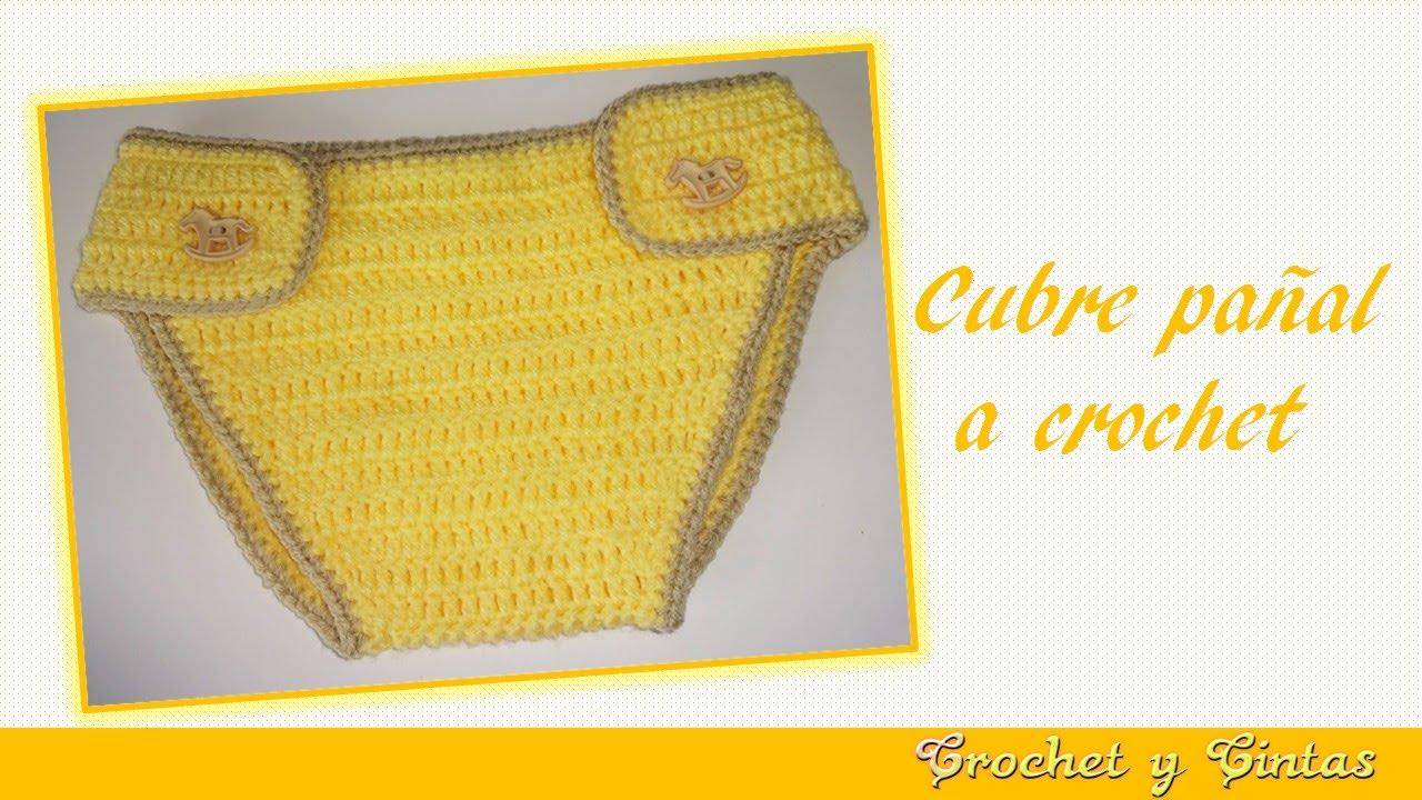 Cubre Pañal Para Bebé Tejido A Crochet Youtube