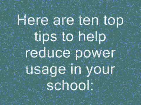 Ten top tips to reducing energy output in schools