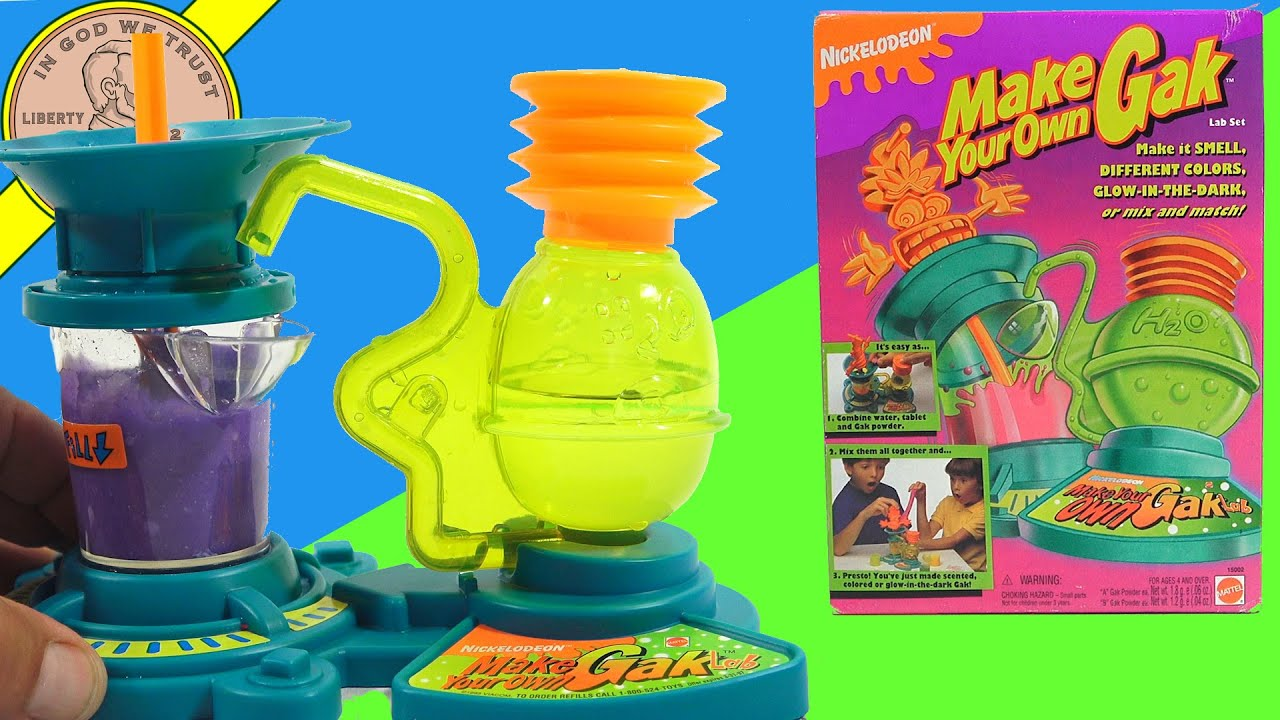 Make Your Own GAK - Very RARE Vintage Set  - How To Make GAK! - Extended Video