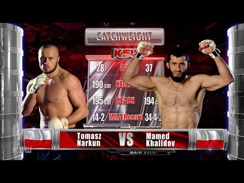 KSW Free Fight: Tomasz Narkun vs. Mamed Khalidov 1