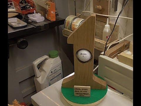 A home made  golf trophy