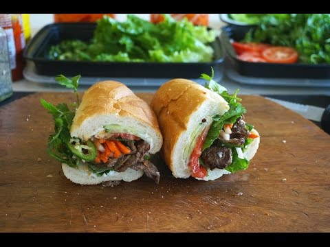 Beef Banh Mi {Vietnamese Sandwich With Beef}