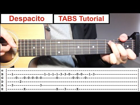 Despacito | Fingerstyle TABS Guitar Lesson (Tutorial) How to play Fingerstyle