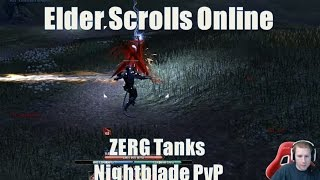Zerg Nightblade Tank Game play for Elder Scrolls Online Patch 1.5