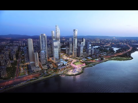 """Shenzhen Bay Super Headquarters  """"The Hypernet""""  AURA + Martha Schwartz & Partners"""