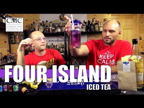 Four Island Iced Tea, with Bluechai Blue Tea