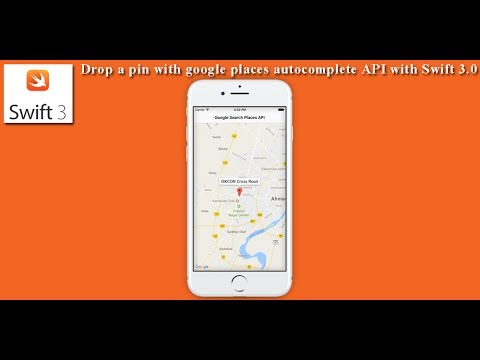 Drop a pin with google places autocomplete API with Swift 3.0