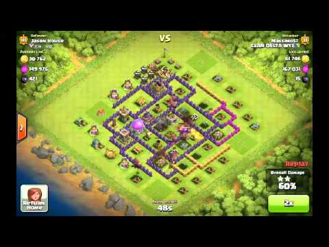 Clash of Clans - 10 Dragon Attack for Dark Elixir, Trophies & Gold