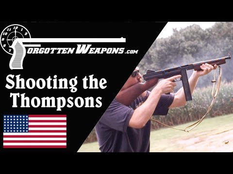 Shooting the Thompsons: Comparing the 1921, 21/28, and M1A1 - Having gone through the whole series of Thompson submachine guns, not it's time to take them out to the range!