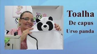 Toalha de capuz urso panda