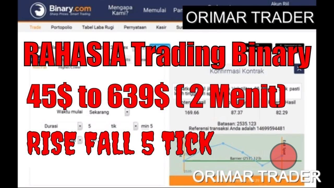 Trik Trading Binary Rise Fall 5 - 10 Menit Selalu DIJAMIN