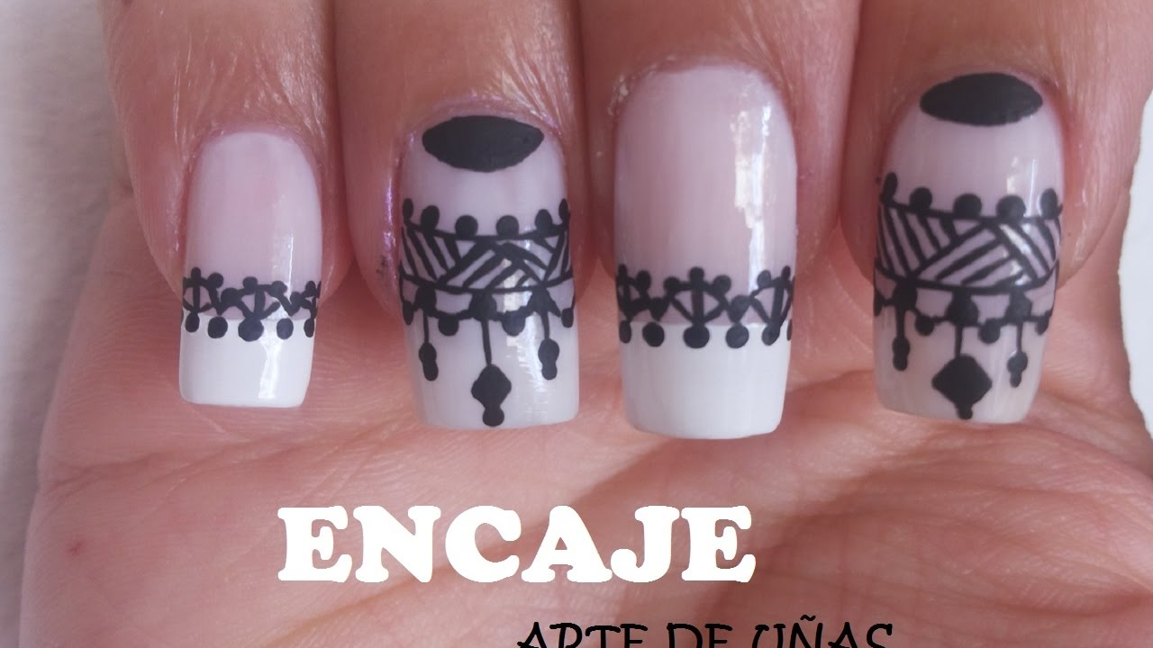 decoracin de uas con encaje facil nail art