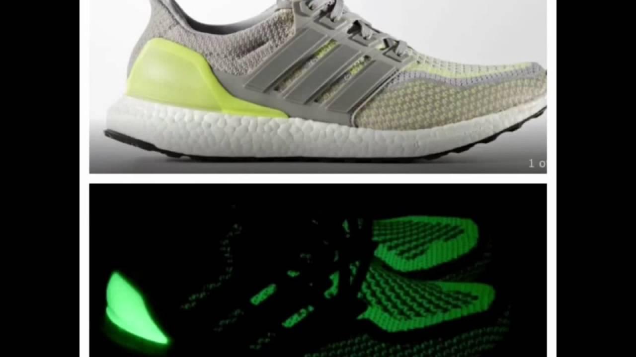 7df15f5d870 Glow in the dark Adidas Ultra Boost - YouTube