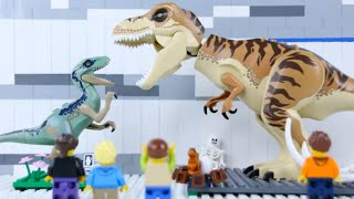 LEGO Jurassic Museum (compilation) STOP MOTION LEGO Dinosaurs, Cavemen & Time Travel | Billy Bricks