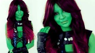 Guardians of the Galaxy 2 Gamora make up tutorial by Anastasiya Shpagina