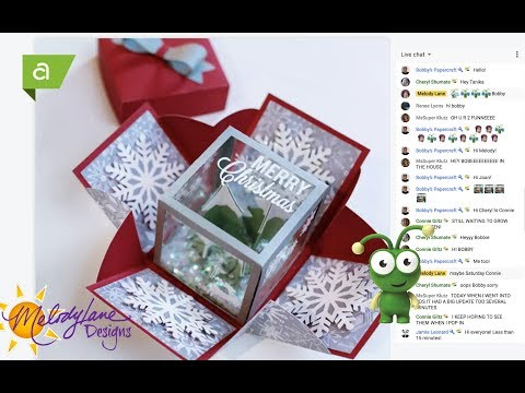 Cricut Merry Christmas Exploding Box