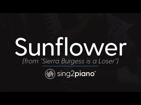 Sunflower (Piano Karaoke Instrumental) Post Malone & Swae Lee
