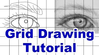 how to draw using a grid - grid drawing tutorial