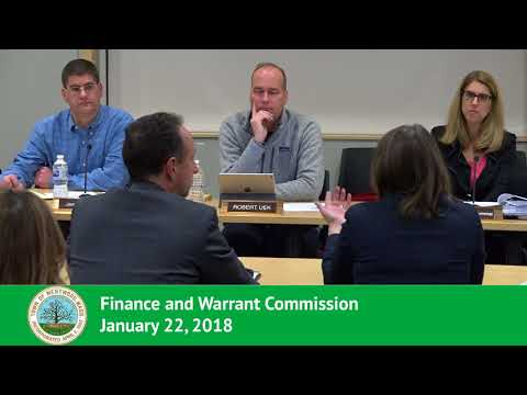 Finance and Warrant Commission - 01/22/18