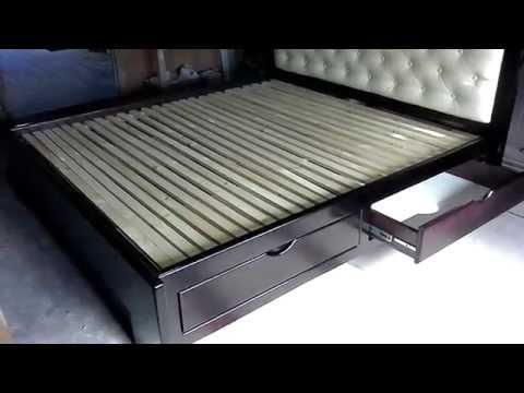 Кровать двухспальная венге (шухляды)