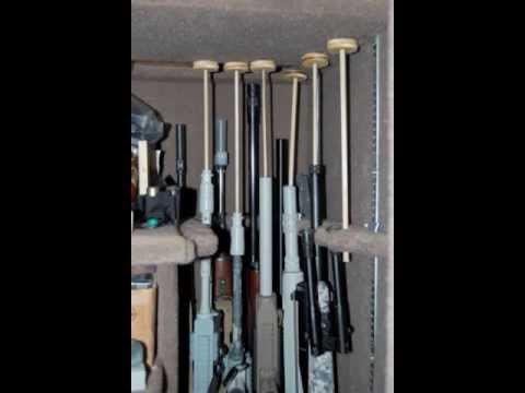 Homemade Long-Gun Safe Organization - YouTube