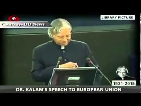 Memories: Dr. APJ Abdul  Kalam's speech at European Union
