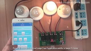 Commande éclairage sans fil WiFi par smartphone