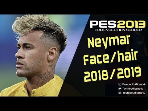 Pes 2013 New Face Hair Neymar Jr 2018 2019 Youtube