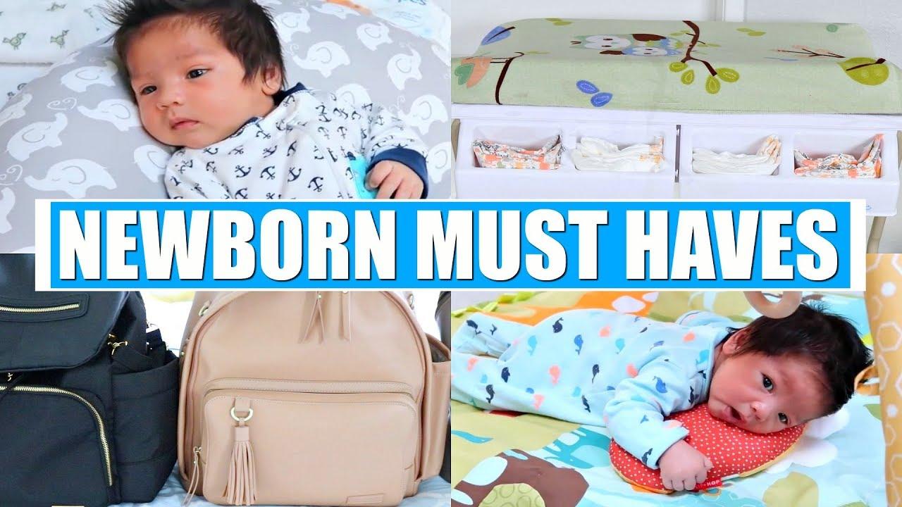 NEWBORN BABY MUST HAVES + ESSENTIALS! - YouTube