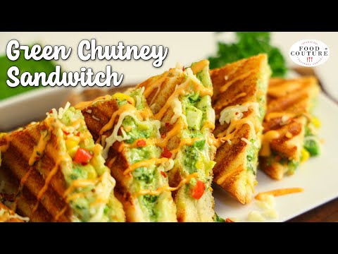 Chutney Grill Sandwich   Street Style Sandwich   Chetna Patel Recipes