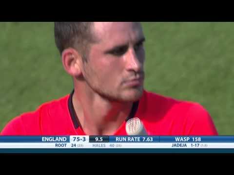 Amazing catch from Ajinkya Rahane during England v India T20   7th September 2014