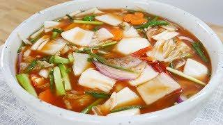 나박김치 ( Watery kimchi made of sliced radishes )