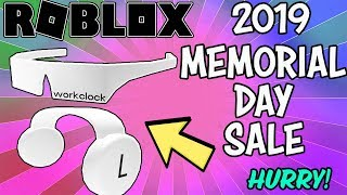 WORKCLOCK HEADPHONES AND SHADES ON SALE FOR MEMORIAL DAY 2019 (Roblox) - HURRY!