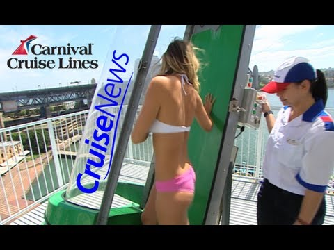 The Green Thunder waterslide onboard the Carnival Spirit cruise ship Cruise News