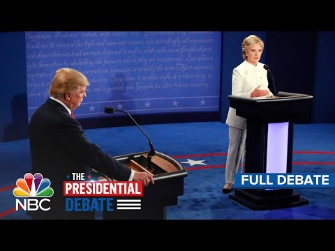 The Third Presidential Debate: Hillary Clinton And Donald Tr