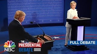 The Third Presidential Debate: Hillary Clinton And Donald Trump (Full Debate) | NBC News(Get Breaking News Alerts: http://nbcnews.to/2e4vaHN » Check Out Fact-Checks And More: http://nbcnews.com/debate » Subscribe to NBC News: ..., 2016-10-20T03:10:47.000Z)