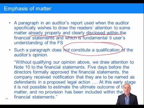 ACCA F8, Types of Audit Report: Modified/Unmodified