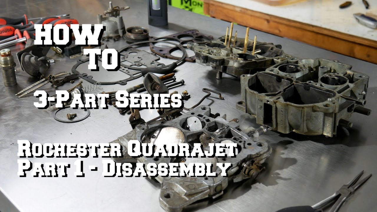 how to quadrajet carburetor rebuild part 1 removal and disassembly [ 1280 x 720 Pixel ]