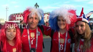 Russia: Fans celebrate as Chile book semi-final spot following draw with Australia thumbnail
