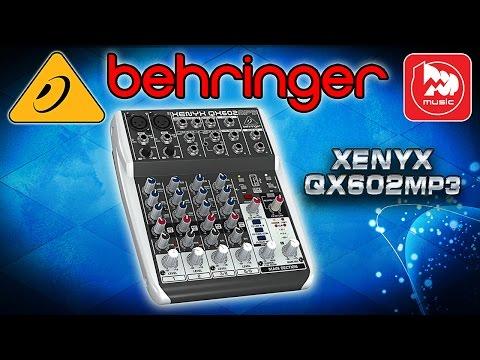 BEHRINGER QX602MP3 - новый компактный микшер с МП3 плеером