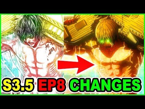 Are All Titans Devils? | Manga Vs Anime Changes Analysis | Attack On Titan Season 3 Part 2 Episode 8