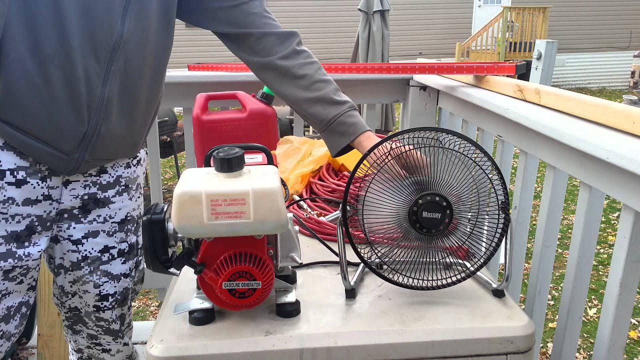 The smallest gasoline generator power pony 350 watt