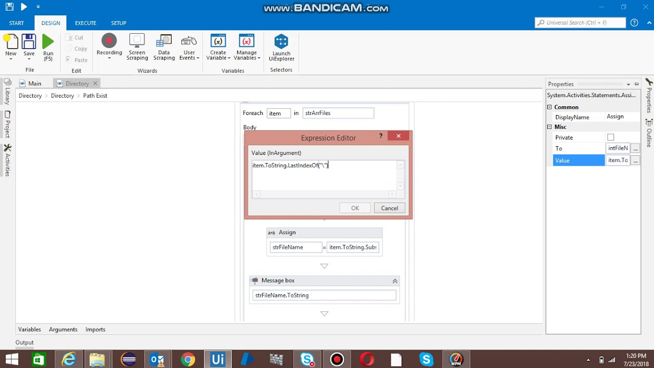 How to get all files present in the folder in UiPath