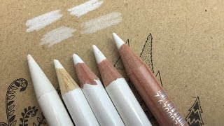 White Colored pencils: Some ways to use it!