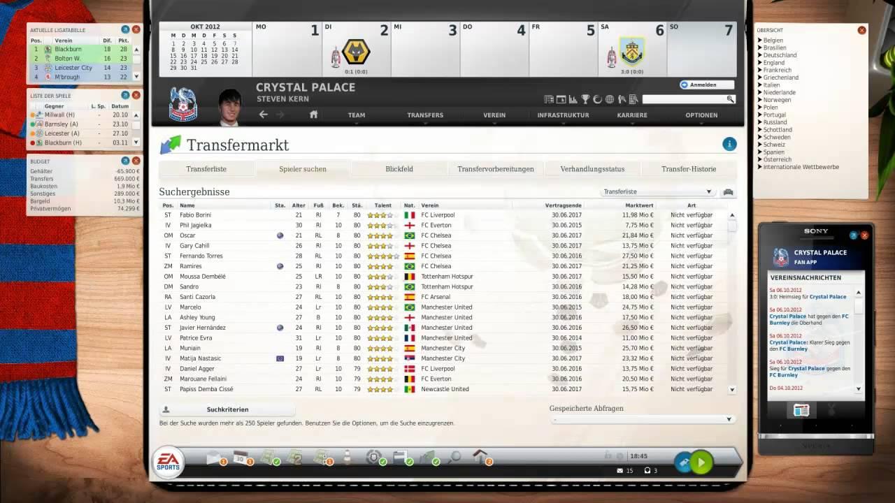 Fussball Manager 14 Talente