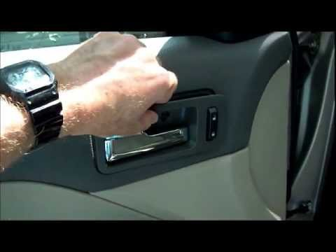 Replacing Broken Inside Door Handle On 2007 Ford Fusion Youtube