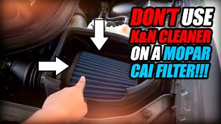 HOW TO CLEAN AND MAINTAIN YOUR MOPAR COLD AIR INTAKE FILTER #caifilter #moparcai #dodge